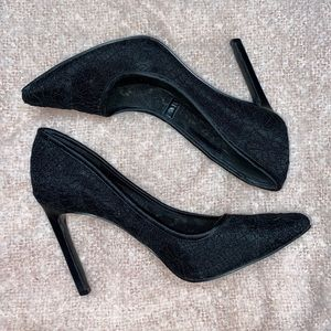 Nine West Black Lace Pumps Sz 7